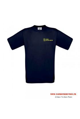 T-shirt marine jeunes sapeurs pompiers