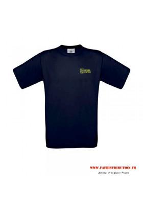 T-shirt marine sapeurs pompiers