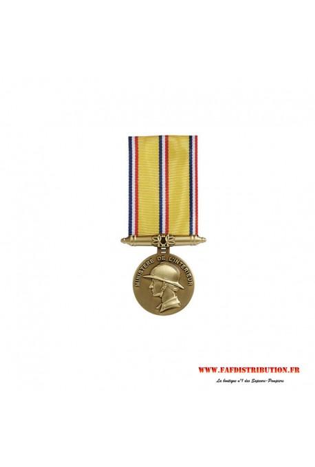 Médaille ancienneté SAPEURS POMPIERS 10 ans