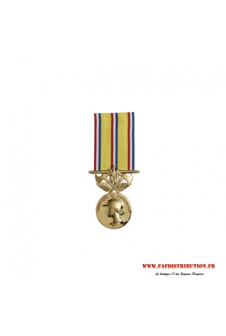 Médaille ancienneté SAPEURS POMPIERS 40 ans