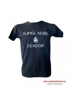 T-shirt marine FUMÉE NOIRE / DÉVIDOIR