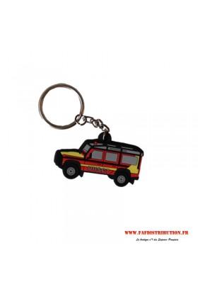 Porte-clés souple VLHR Land Rover securité civile UIISC