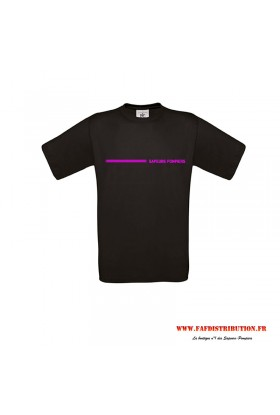 T-Shirt enfant bande rose