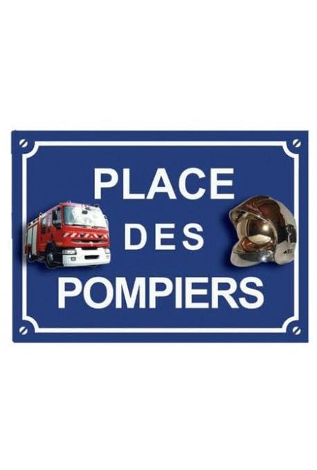 """Plaque """"Place des Pompiers"""""""