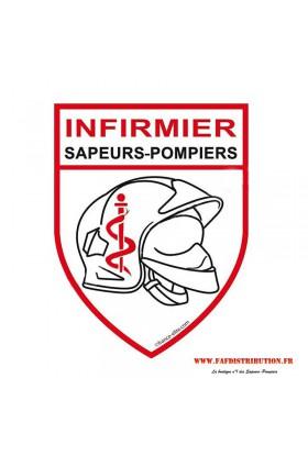 """Autocollant """"Infirmier Sapeurs Pompiers"""""""