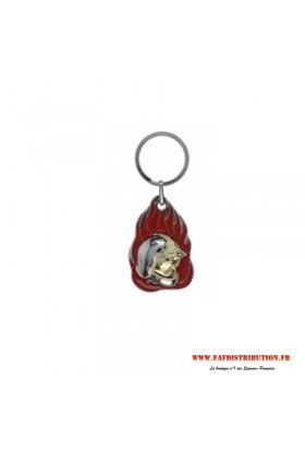 Porte-clés Flamme casque F1
