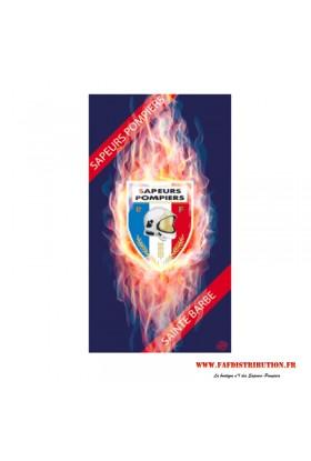 Drap de bain pompiers Sainte Barbe