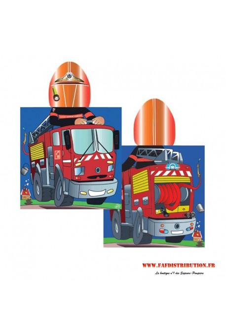 Poncho de bain camion de pompier
