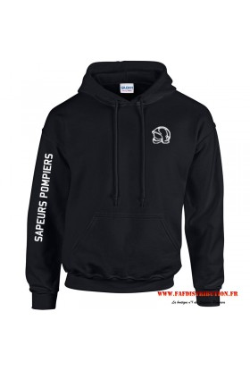 Sweat capuche noir